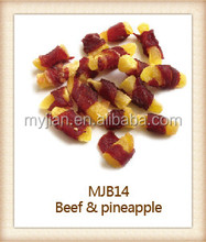 beef and pineapple Pet Food dog snacks Natural and Healthy dry dog treats