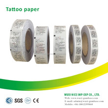 Easy to transfer bubble gum adhesive tattoo paper