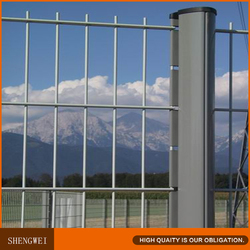 Powder coated wire mesh fence for sale