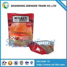 Stand Up Food Grade Packaging Bag For Beef Patties