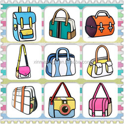 3D Comic Cartoon Kids school bags, Nylon 2D Cartoon Bags for Young Teenagers