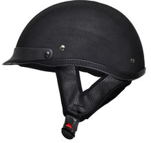 Leather Motorcycle Scooter Half Helmet TN-8617 Top Sale