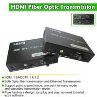 Compressed HDMI Video+HDMI Extender over optic fiber up to 20km optical transmitter and receiver 1080p