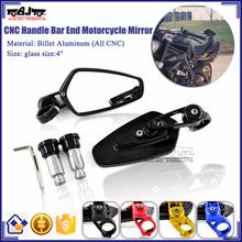 BJ-RM-061B For Motorcycle Yamaha R6 CNC Aluminum Motorcycle Hanle Bar End Mirror