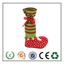Wholesale Alibaba Custom Plush Elf Christmas gift bag for Xmas decor