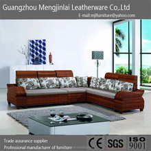 2015 furniture New design modern corner sofa Fabric set grace living room sofa furniture set