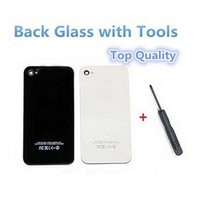 Hot Sell Replacement black white Back Glass Battery Cover HousingGSM CDMA for Iphone4g&4s+ opener tools
