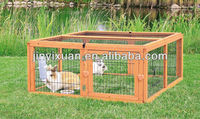 Large run wooden rabbit cages / rabbit breeding cages outdoor run with mesh cover
