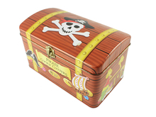 High quality large pirate treasure chests tin can