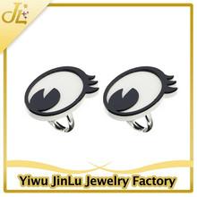 Fashion acrylic cartoon eye women fancy rings