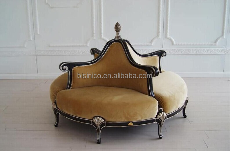 vintage retro round chair sofa golden round throne sofa royal living