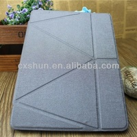 Wholesale factory supply Transformers Style case for iPad air case,for iPad air leather case PU with plain weave pattern