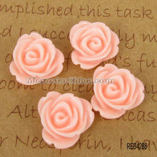 Cheap resin flower cabochons for cell phone decoration