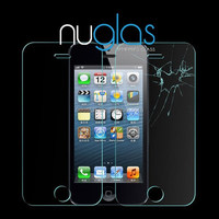 Nuglas hot sell 99% transparents tempered glass screen protector for Iphone 5S 5C 5G