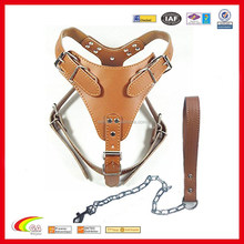 Wholesale Nice brown pu leather pet lead leash set factory directly