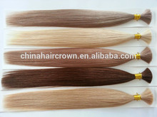 Mejor venta drown doble 100% nuevo real cabello remy indio a granel para la importación