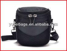 Smart Black Zip Camera Bag with Strap