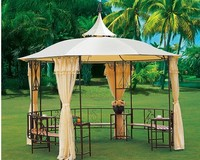 Hot Sale 3x3, 3.5x3.5m Wrought Iron Outdoor Garden Gazebo Tent