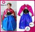 brand new baby meninas azul congelado vestido brilho crianças tutu vestido infantil vestido de noiva