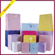 New customized paper gift bag different color package&shopping paper bag for shops