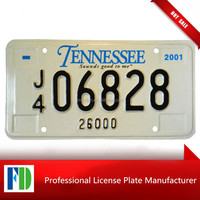 TENNESSEE raised vechile license plate 2013 hot sale,printer for serial number license plate