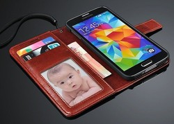 For Samsung Galaxy S5 i9600 Synthetic Pu Leather Wallet Flip Cover Stand Case