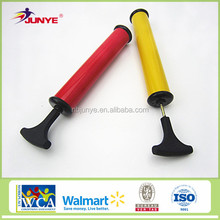 made in China sports accessories 10 inch PP material football use customized ball pump with needles