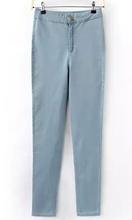 Cielo azul de Strench <span class=keywords><strong>pantalones</strong></span> <span class=keywords><strong>vaqueros</strong></span> de cintura alta Women Demin <span class=keywords><strong>pantalones</strong></span>