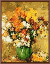 abstract sunflower with vase handpainted oil painting on canvas painting by number GX6417 wholesales art suppliers yiwu