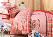 2015 home textile euro size family size 7pcs 40S cotton twill reactive printing comforter sets