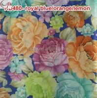 HD480-royal blue/orange/lemon New arrival Fashion plain mulit color flower head tie