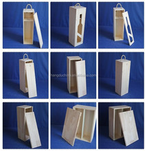 2015 new natural custom wood wine gift box with sliding top