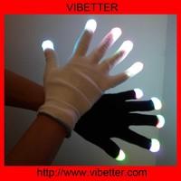 1 x 6-Mode Multi-Color LED Party Glove (Black)