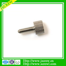 Customized M4 knurled thumb cup head machine screws with chromium plated
