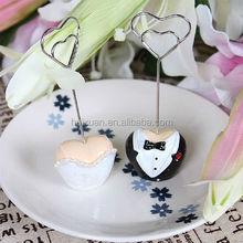 heart shape Wedding Dress&Suit Place Card Holders wedding favor place card holder