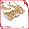 stainless steel luxury jewelry high quality fashion zircon necklace and earrings 18k gold plated dubai gold jewelry set