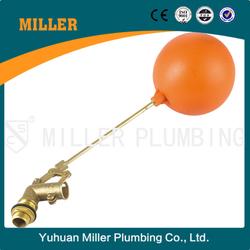 ML-8306 DN20 3/4inch brass float valve with orange plastic ball