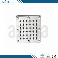 Stainless Steel Oxide Squared Sanitary Fittings Rain Shower Head