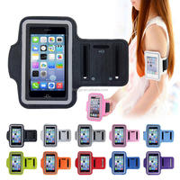 2015 new fashion colorful sports running jogging gym arm band cover case holder for apple iphone 4 4s 5 5s