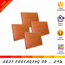 white inside gold color printed a4 size paper box for chocolate packaging