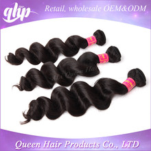 QHP one doner full cuticle wavy human hair
