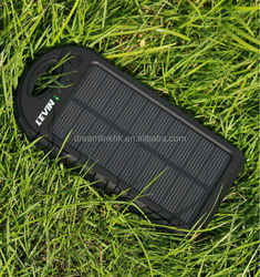 Waterproof Mini Solar Power Bank 6000mAh, Portable Solar Panel Battery Charger for Mobile Phone