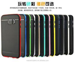 New Hybrid Premium Fundas Case Slim Armor Cover TPU Back Case With PC Frame For Samsung Galaxy S6 Edge MT-3369