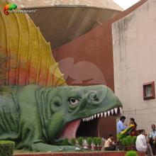 fiberglass dinosaur vivid sculpture for playground