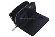 Zipper Billfold Wallet Leather Phone Case Bag cell phone wallet bag for Samsung