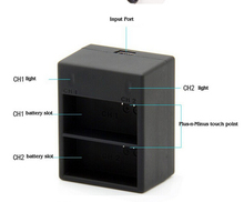USB Dual Battery Charger Charging for GP Hero3+/3 Battery Accessories