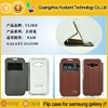 High quality fancy flip silicon PU leather case cover for samsung galaxy j1 j100