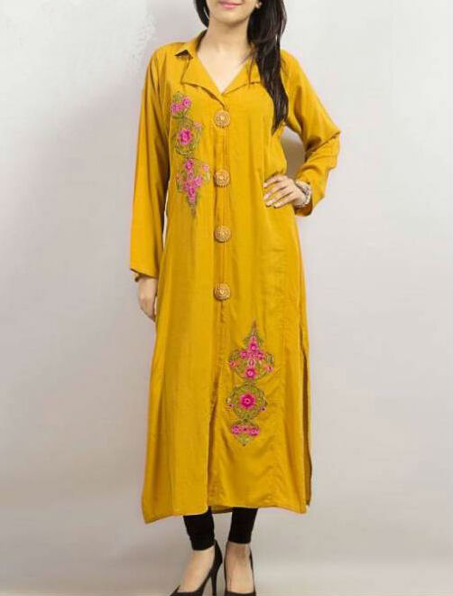 simple long casual dress designs for pakistani girls buy