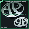 New molding chrome metal car badge in curve shape