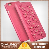 QIALINO Extreme Thin Classic Export Quality Belt Leather Case For Iphone6 Customizable